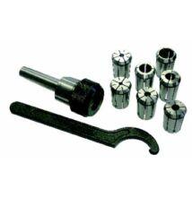 Patronkészlet 18db-os (3-20mm), MK2/M10/ER32 befogó, kulcs, dobozban
