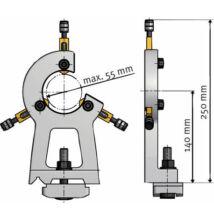 Állóbáb Ø max. 55 mm; OPTIturn TU 2807 esztergához