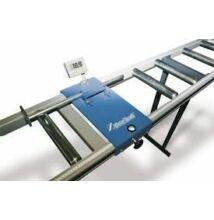 MRB LC-E görgős hosszmérős anyagtovábbító asztal 3m / 100kg/m