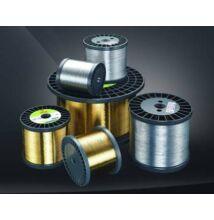 Cink bevonatos Sárgaréz huzal (CuZn37 átm. 0,25mm, félkemény 500N/mm2, K160 dob, 8,0kg)