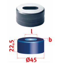 Hosszlyuk kivágó matrica Nr.45 13,0 x 31,0 mm