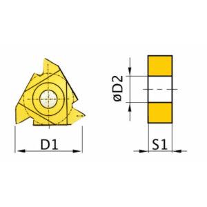 Menetvágó váltólapka 60° AR 16ER AG60 (5 db)