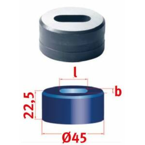 Hosszlyuk kivágó matrica Nr.45 15,0 x 26,0 mm