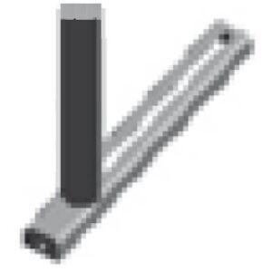 Oldalvezető görgő anyagtovábbító (290-es) asztalhoz (fix)