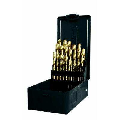 KIFUTÓ TERMÉK!!!!  Fúrókészlet 1-13mm 25 részes TiN bevonattal