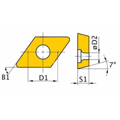 DNMG110408 HM váltólapkák (5 db.)