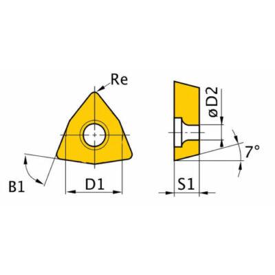 Tartalék lapka ISO WNMG080408