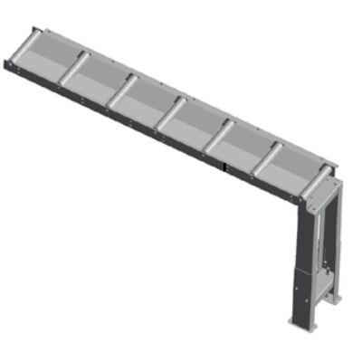 Görgős anyagtovábbító asztal (1000x290mm) 200kg/m Metallkraft