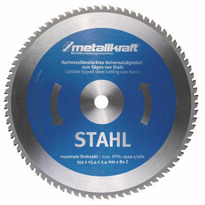 Metallkraft körfűrésztárcsa acélhoz 355 x 2.4 x 25.4 mm T80