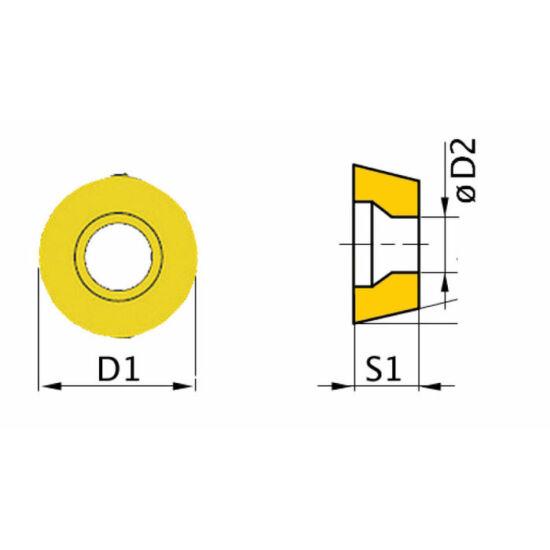 Váltólapka (körlapka)  RNMG1003MO (5 db)