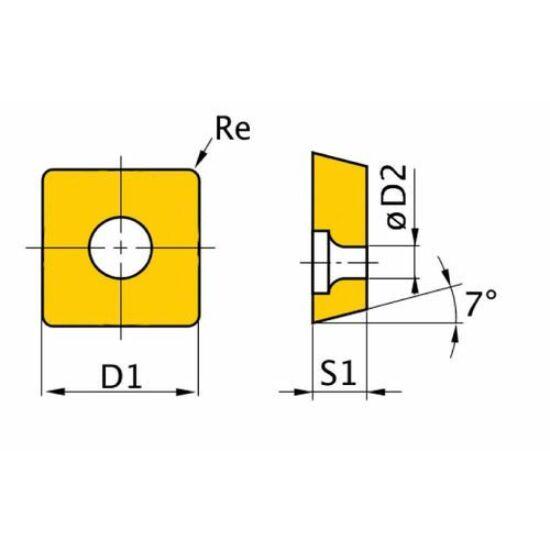 Váltólapka HM ISO PSDNN3232P15 (5 db)