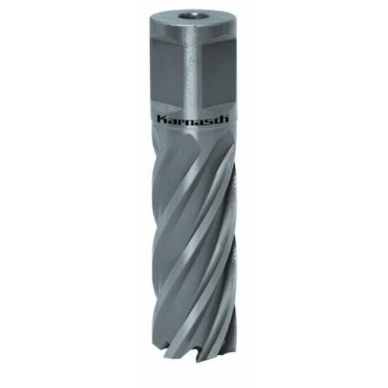 Koronafúró 18mm/50mm vágóéllel, 19mm weldonszár HSS Silver-Line